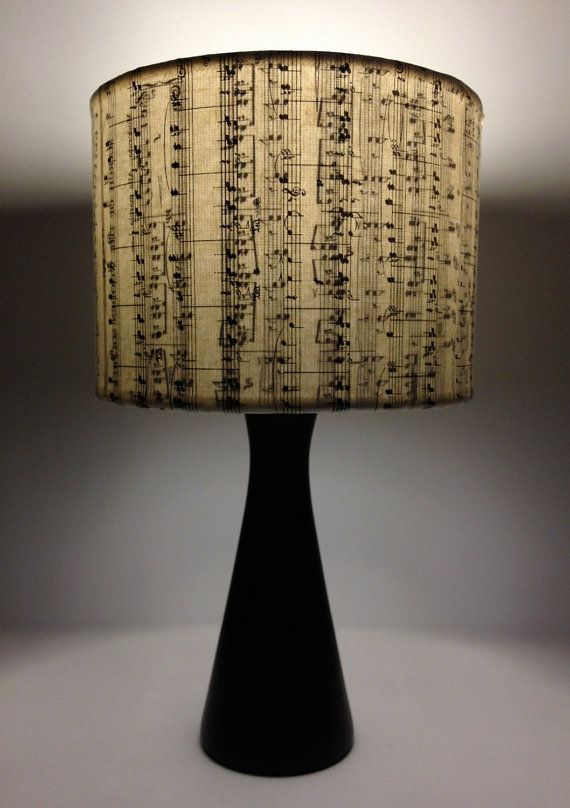 Random Vertical Music Stripes: Vintage songbook lamp shades or pendants -  Upcycled Repurposed charm.