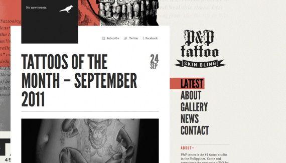 P amp; P Tattoo website  http://pandptattoo.com/ Website Design | tattoos picture tattoo websites