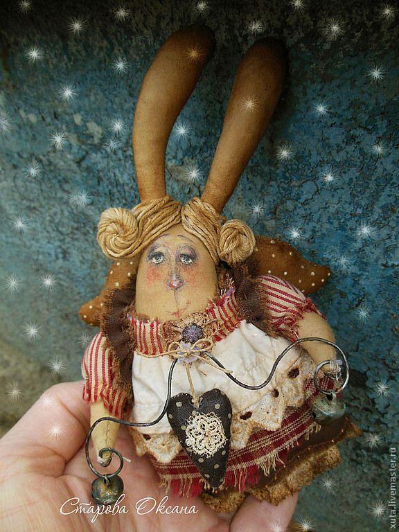 Купить Гостинчик от зайчика... - коричневый, гостинчик, новый год 2013, рождество, зайчик, сердечко, подарок на новый год