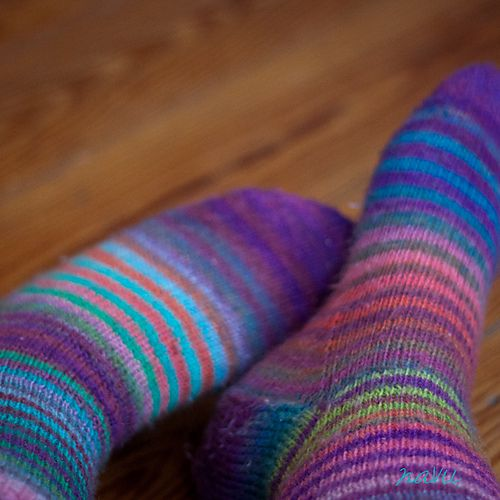 Ravelry: Magic Zauberball Stripe Socks pattern by Tofutrulla