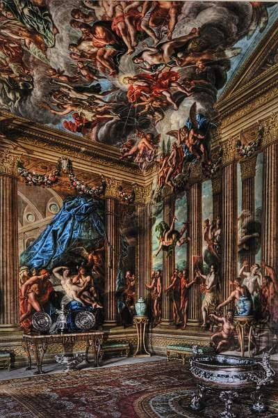 The Heaven Room, Burghley House, Stamford, Lincolnshire, UK painted by Antoinio Verrio