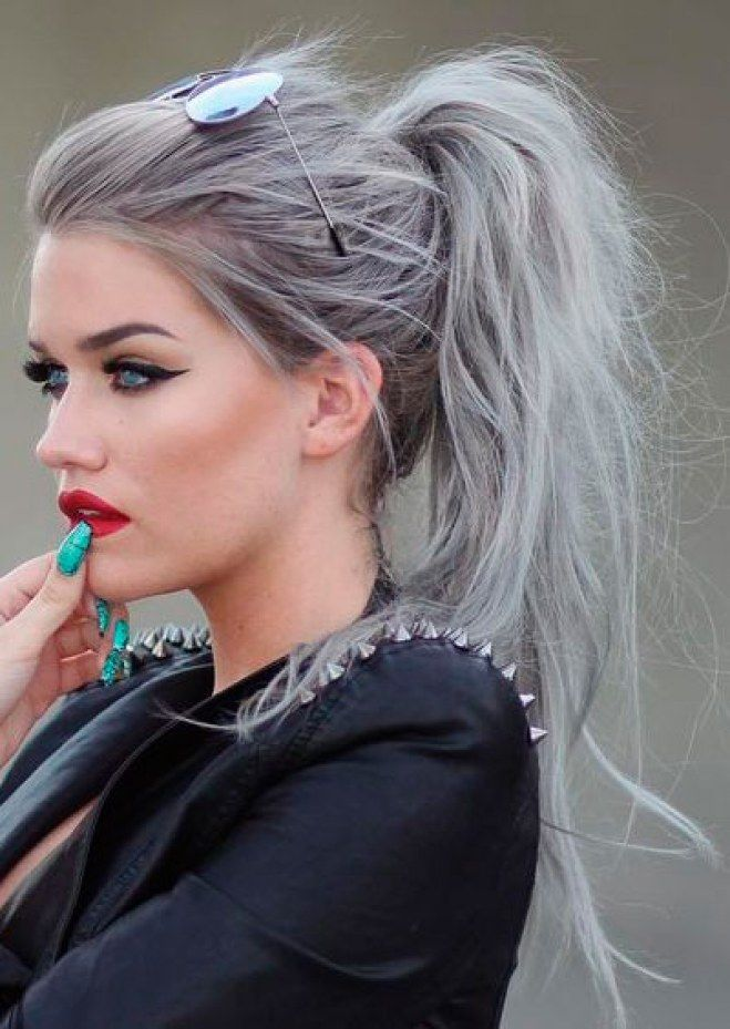 Cabelo cinza | Cores de cabelo, Hair hair, Cabelos pintados