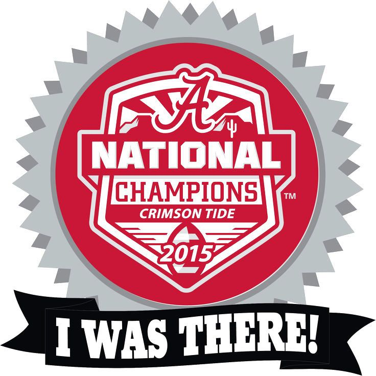 Alabama Crimson Tide College Football Playoff 2015 National Champions I Was There Pin - $5.69