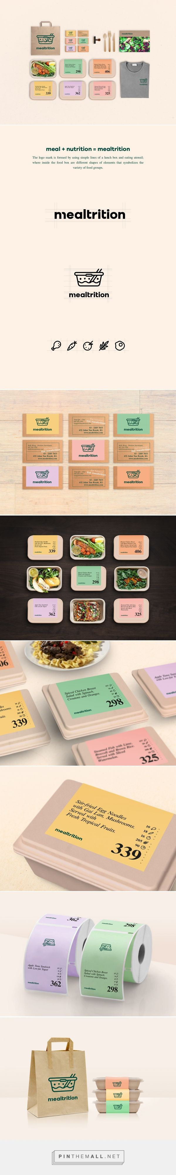 Branding, graphic design and packaging by Mealtrition Food Delivery on Behance by ZiYu Ooi Penang Island, Malaysia curated by Packaging Diva PD. A healthy food delivery service that provides nutritionally balanced and freshly prepared food.