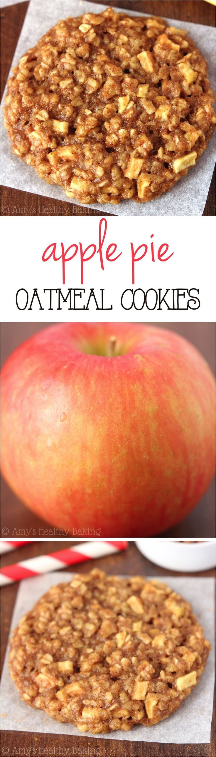 Apple Pie Oatmeal Cookies | Amy's Healthy Baking