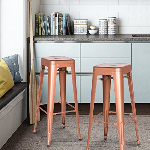 New Copper Metal Wood Counter Stool Kitchen Dining Bar: 1000+ Ideas About Copper Bar On Pinterest