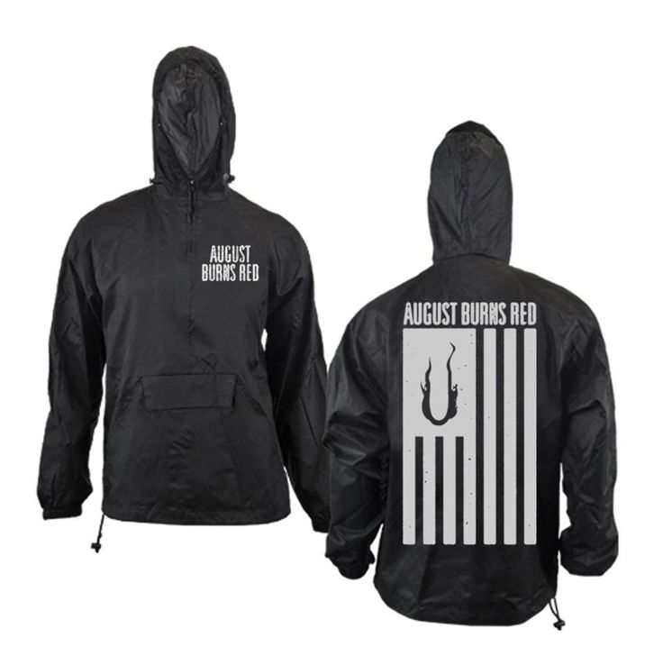 Flag Black Windbreaker