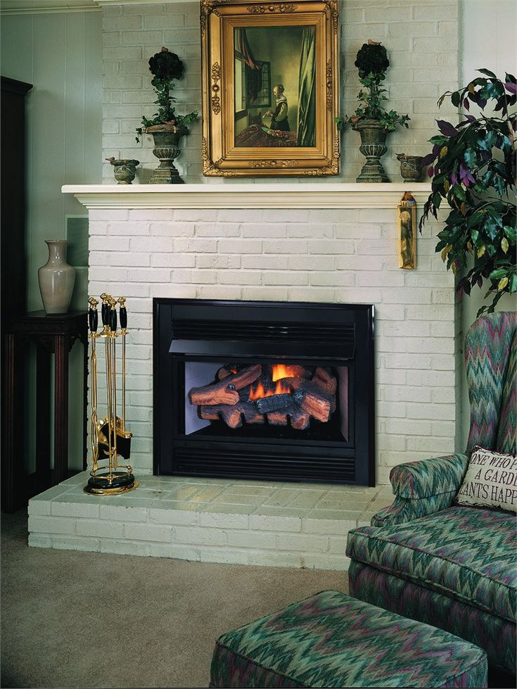 Fireplace Design propane fireplace logs : The 25+ best Gas log insert ideas on Pinterest | Gas log fireplace ...