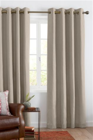 Natural Cotton Studio* Eyelet Lined Curtains