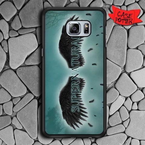 Supernatural Black Wings Samsung Galaxy S6 Edge Black Case