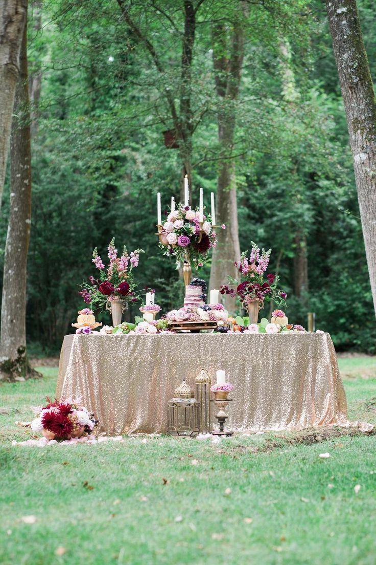 Pretty Berry Reds & Rose Gold Bridal Forest Shoot