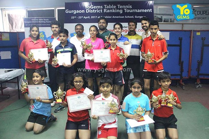#YoGems congratulates YoGems #Table Tennis Gurgaon #District Ranking Tournament Winners and Runner up #Table Tennis Championship