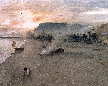 Hastings - (1) de Albert Goodwin (1845-1932, United Kingdom)