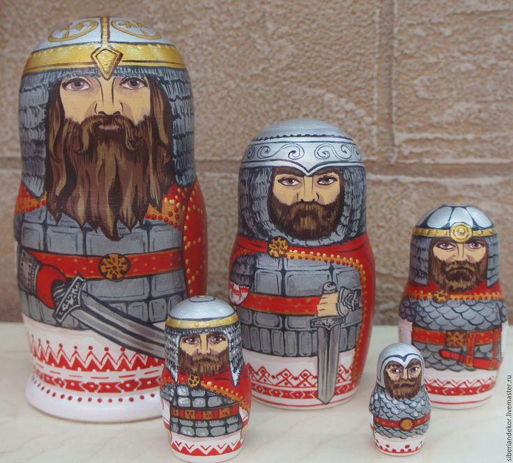 Купить Матрешка Русский богатырь - матрешка авторская, Роспись по дереву, сувениры и подарки, русский сувенир