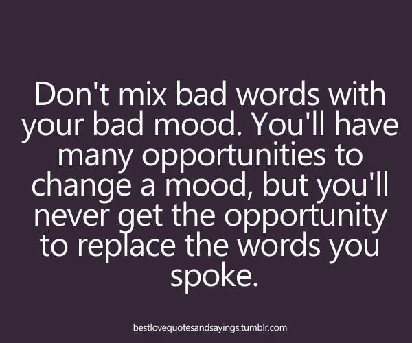 Bad Words Can't Be Taken Back