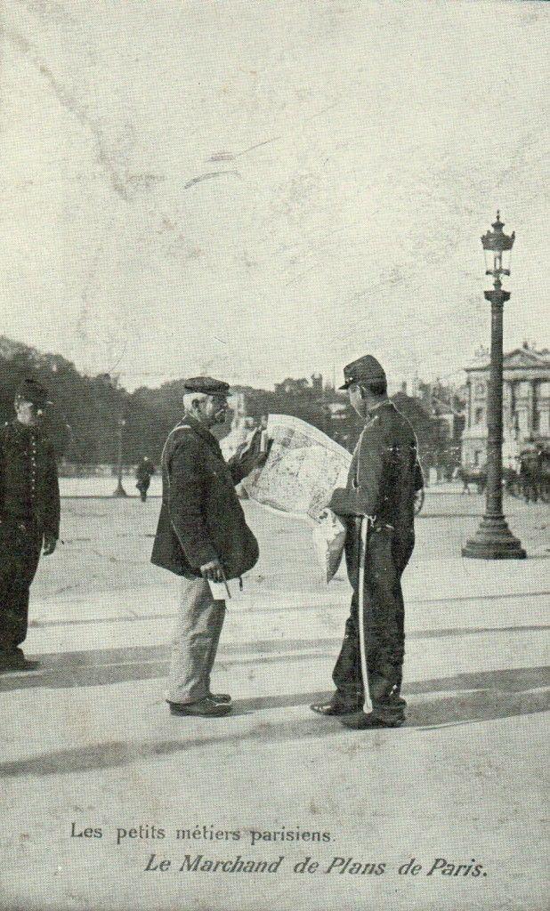 Les petits métiers Parisiens : Marchand de plan de Paris                                                                                                                                                                                 Plus