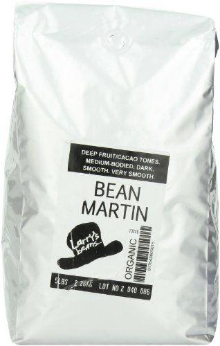 Larry's Beans Fair Trade Organic Coffee, Bean Martin, Whole Bean, 5-Pound Bag - http://goodvibeorganics.com/larrys-beans-fair-trade-organic-coffee-bean-martin-whole-bean-5-pound-bag/