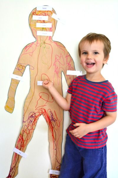 Body part labels for three year old child at How we Montessori