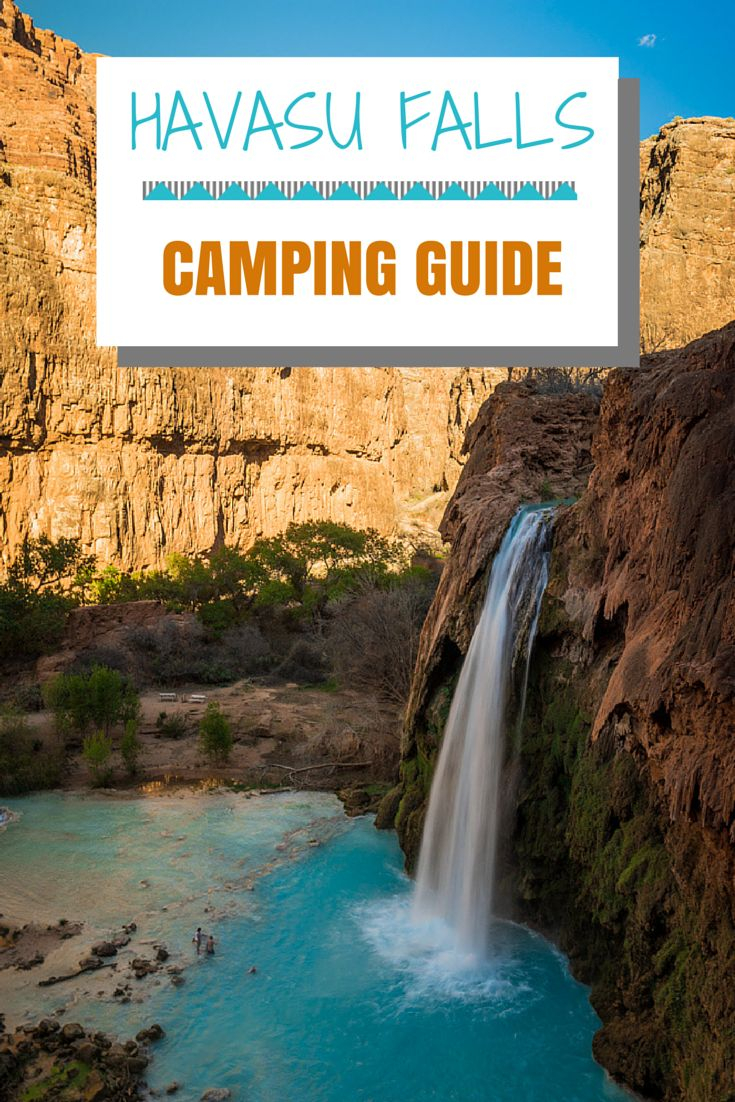 Everything you need to know about planning an amazing camping weekend at Havasu Falls, including permits, gear, and side hikes. #havasufalls #arizona #grandcanyon
