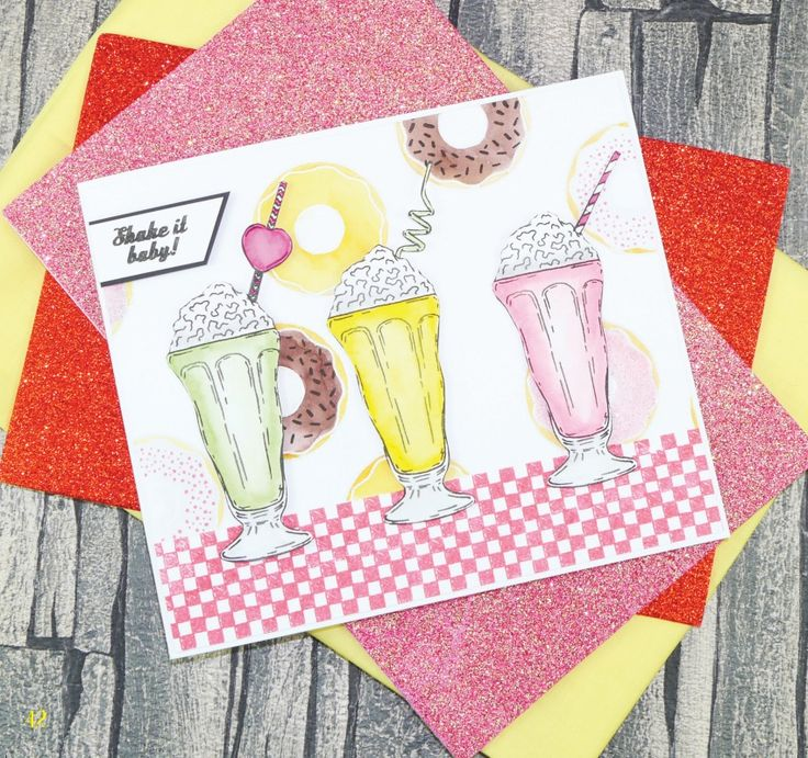 Card created using For the Love of Stamps Magazine Issue 4 Free gift - Shake it Baby! Stamp Set