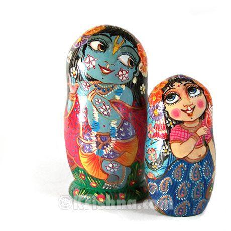 $59. Radha & Krishna nesting dolls so sweet. DIY darlings