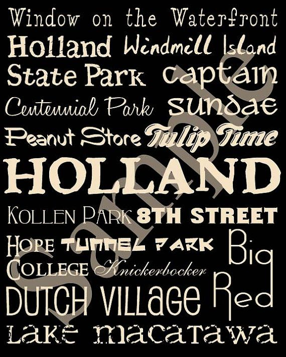 Holland Michigan Attractions Poster By MichiganPosters On Etsy, $12.00