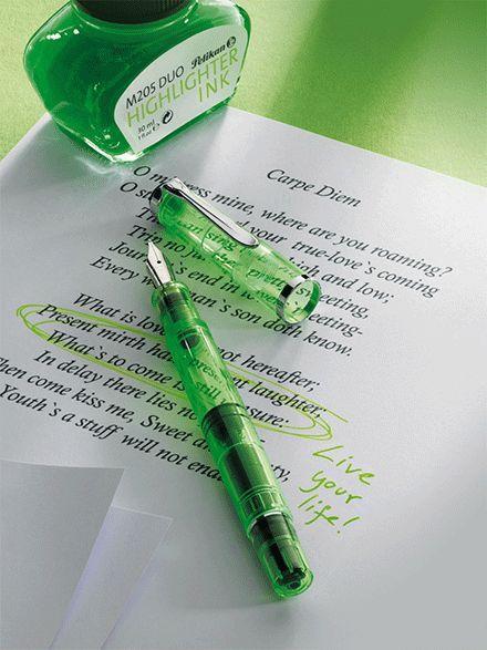 Pelikan Tradition M205Duo Shiny Green - Pennor Pelikan Tradition - Pennshoppen
