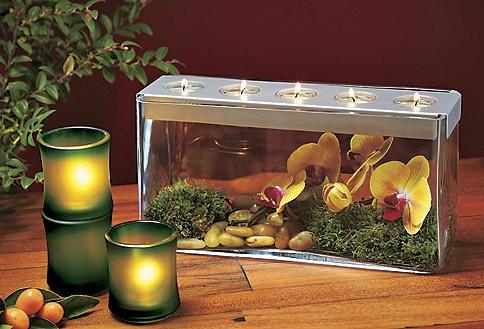 Customizable Tealight Centerpiece.  Create your very own Island Oasis.