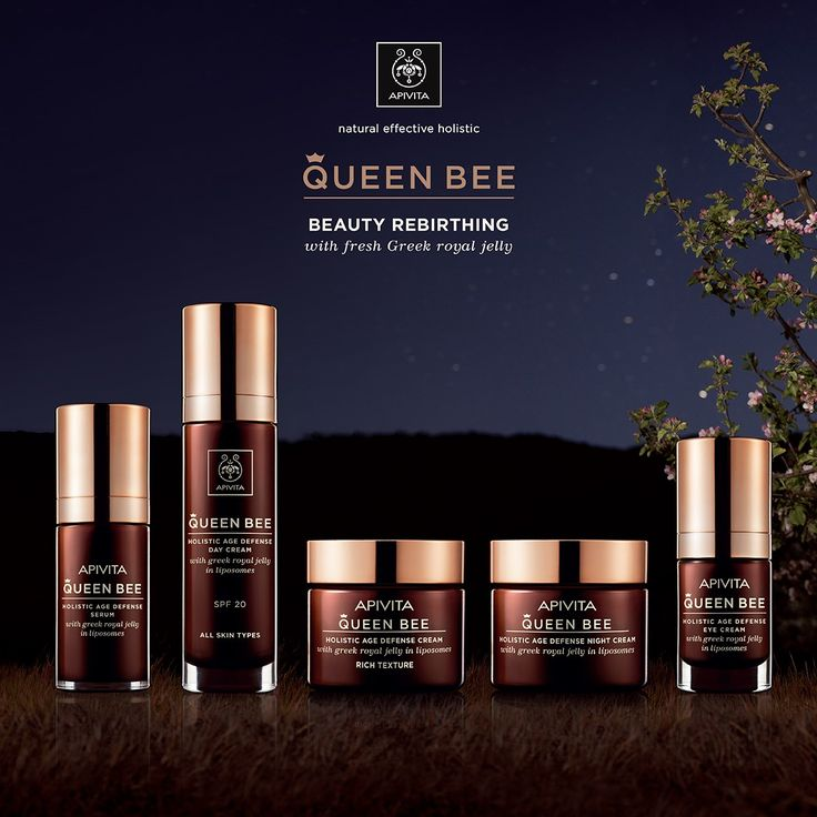 Offer your #skin a touch of luxury with fresh greek #royaljelly ,  a symbol of eternal #beauty & #rejuvenation!  Meet the new #QueenBee range! Read more at www.apivita.com