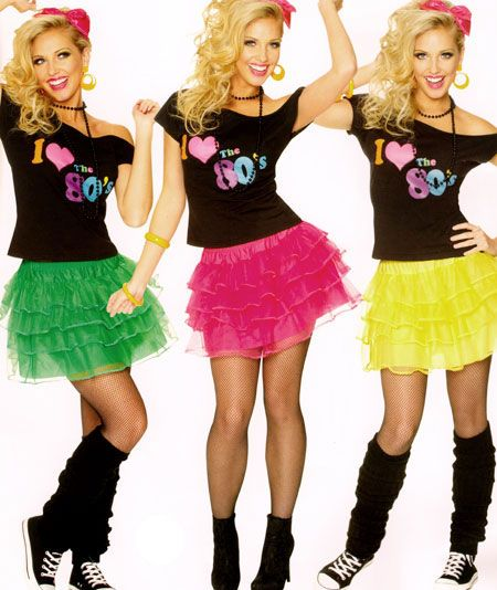 Eighties Costume Petticoat Skirt Womens