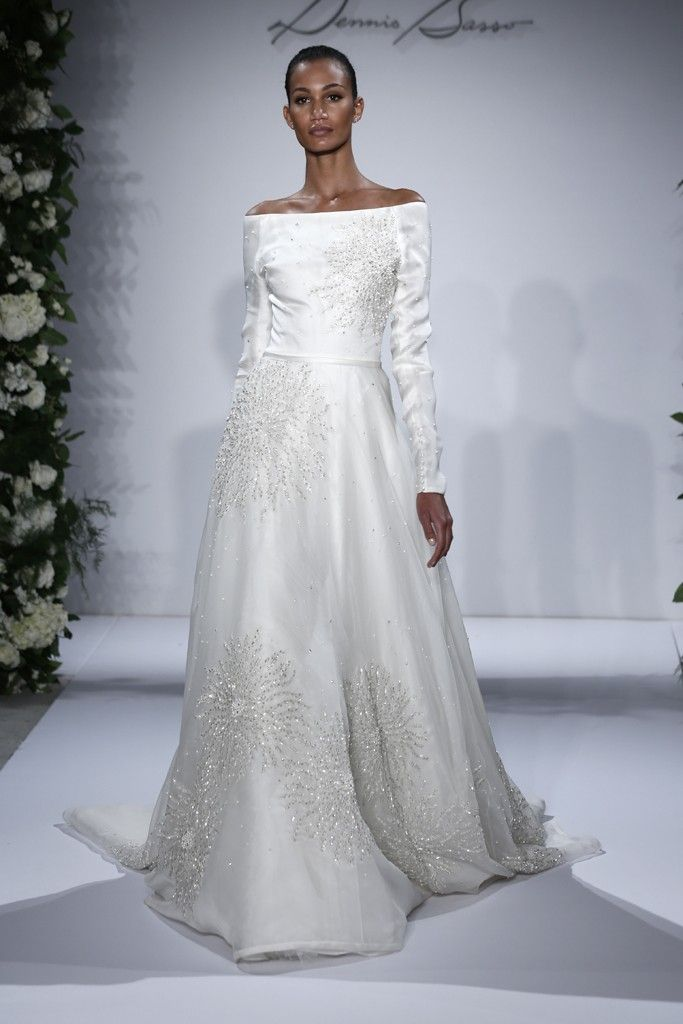 135 best dennis basso bridal images on pinterest for Kleinfeld wedding dresses with sleeves