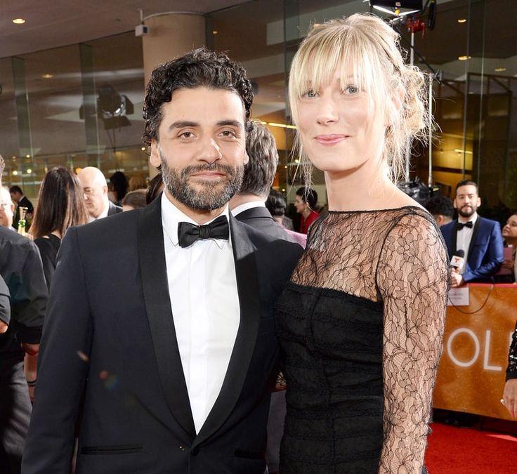 Oscar Isaac and Elvira Linda at the Golden Globes 2016