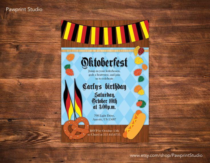 PRINTABLE Invitation: Oktoberfest Invitation (Customizable) by PawprintStudio on Etsy