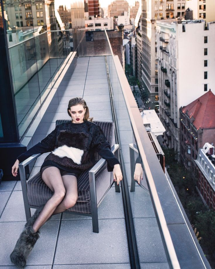 Lindsey wears cold weather fashions for the editorial