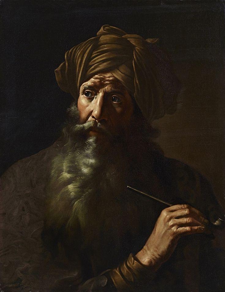 Mattia Preti (attribuito), Fumatore - collezione privata - olio su tela