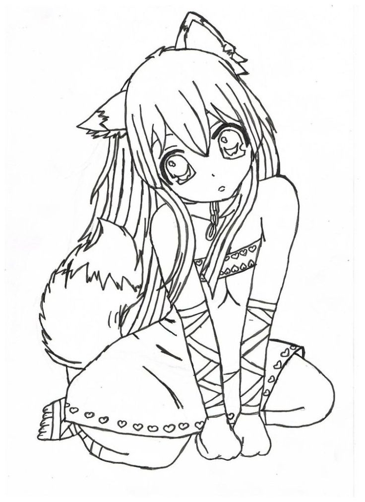 Adult Coloring Page: Anime Coloring Pages For Adults