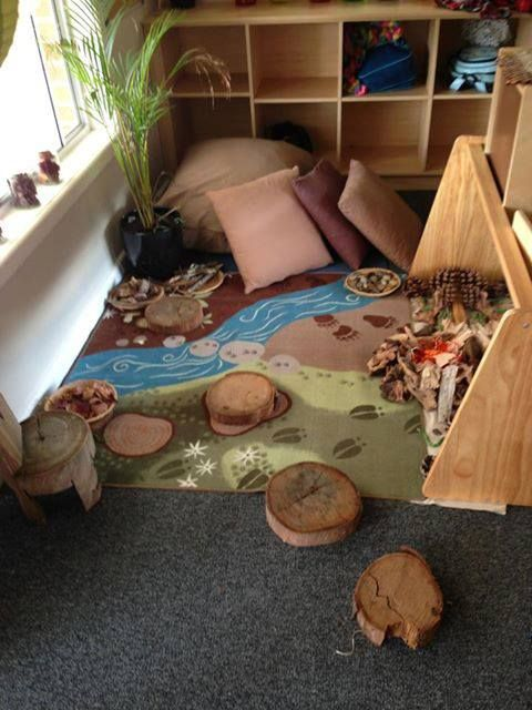 (1) What a lovely natural corner to take time out,... - let the children play