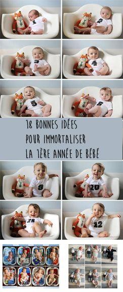Parce que bébé grandi tellement vite, voici 18 bonnes idées pour immortaliser la première année de bébé. En photos, en cadre avec doudou ou le grand frère. A vous de voir ce qui vous plait le plus.