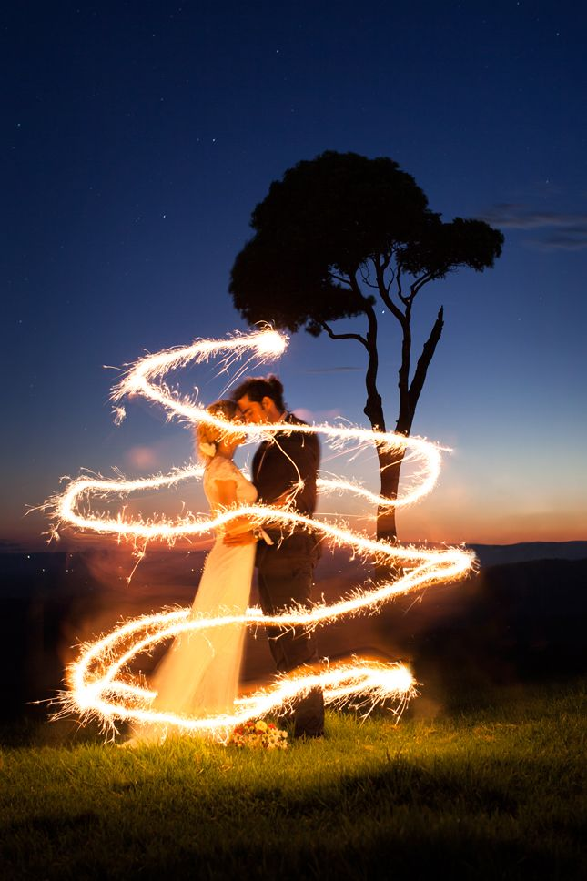 Maleny's one tree hill getting some sparkler love