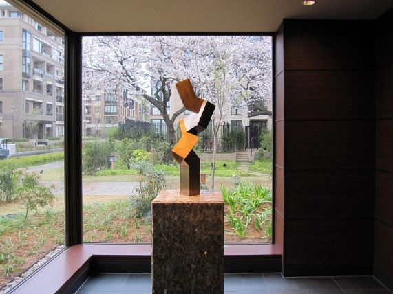 境野 学 現代金属彫刻 ブロンズ彫刻,Manabu Sakaino Contemporary Metal Sculpture,Abstract Bronze Sculpture,Modernist Bronze Sculpture