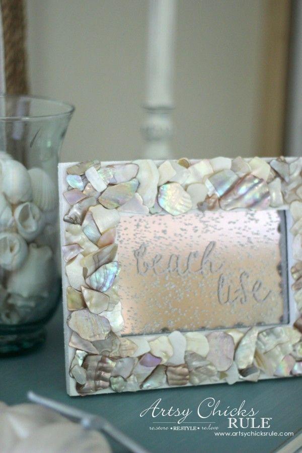 DIY Seashell Frame Art (beach life)