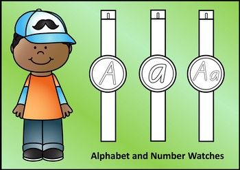 Alphabet Watches for junior students (A-Z)  Bonus:  number watches 1-20 also included.Included:   Capital and lower case letter together (Aa)  Capital letter (A)  Lower case letter (a)  Numbers 0-20The font used is NZ Basic Script.  The letter/number shapes are the same as those recommended in the NZ Ministry of Education Handbook  Teaching Handwriting.