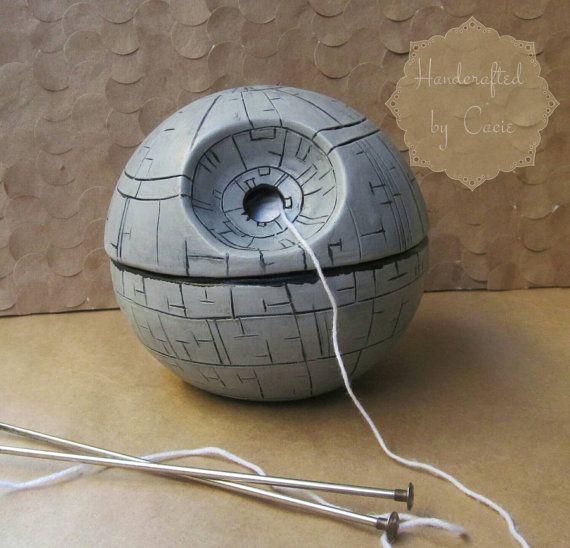 Hey, I found this really awesome Etsy listing at https://www.etsy.com/listing/237116166/death-star-yarn-bowl-star-wars-yarn-bowl