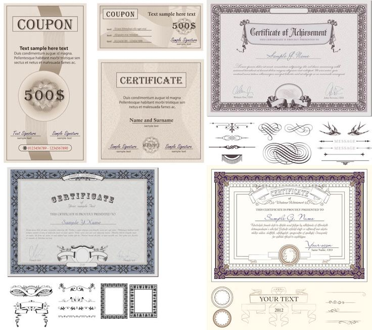 9 best certificate design images on pinterest certificate design certificate designs vector yadclub Gallery