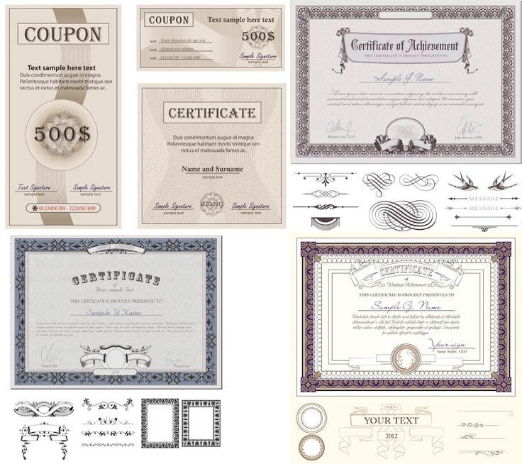 Certificate designs vector
