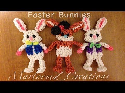 ▶ Rainbow Loom: Easter Bunny - YouTube