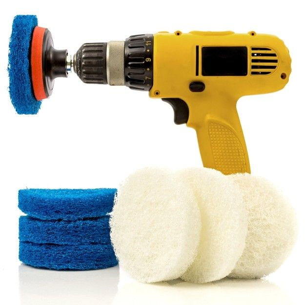Use the power of your tools with scrubber attachments. | 37 Seriously Useful Tips Every Neat Freak Needs To Know