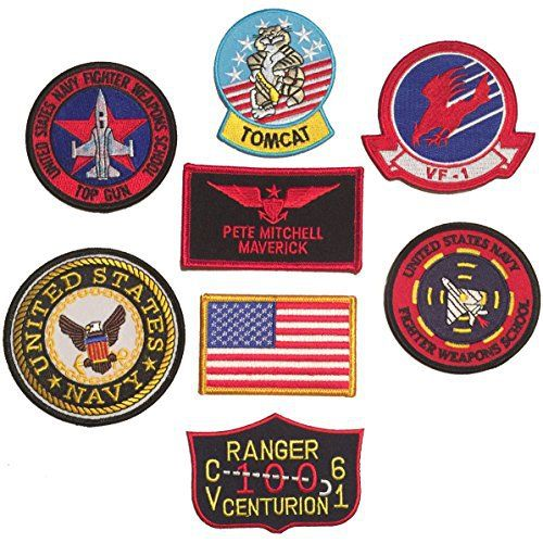 Pimp up your Top Gun costumes for couples with these US Navy Top Gun Patches (Pete Mitchell Maverick). - #TopGunCostumesforCouples