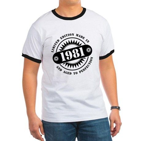 LIMITED EDITION MADE IN 1981 T-Shirt  #madein #limitededition #birthday #bday #year #age