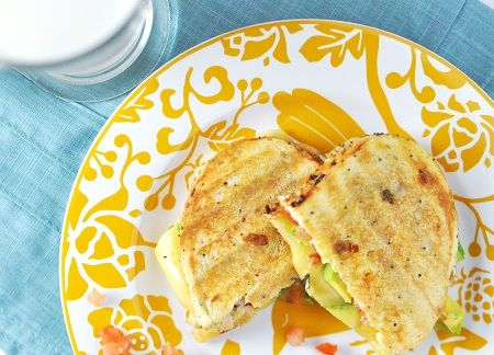 ... : Grilled Cheese Sandwich with Gouda, Pico de Gallo & Avocado Recipe